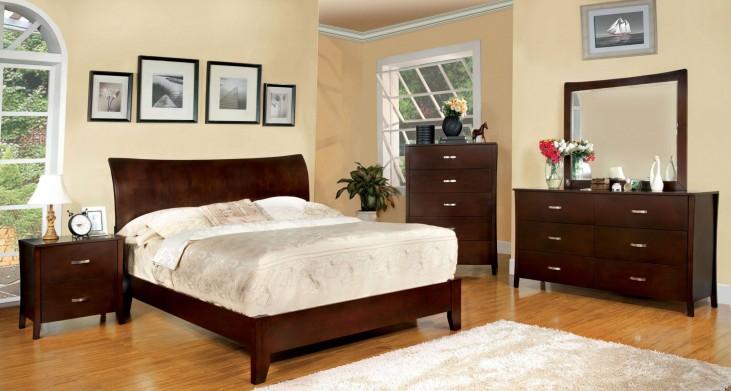 Midland Brown Cherry Platform Bedroom Set