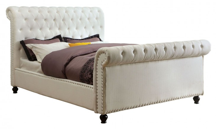 Bennett White Cal. King Sleigh Bed