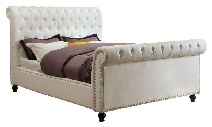 Bennett White Queen Sleigh Bed