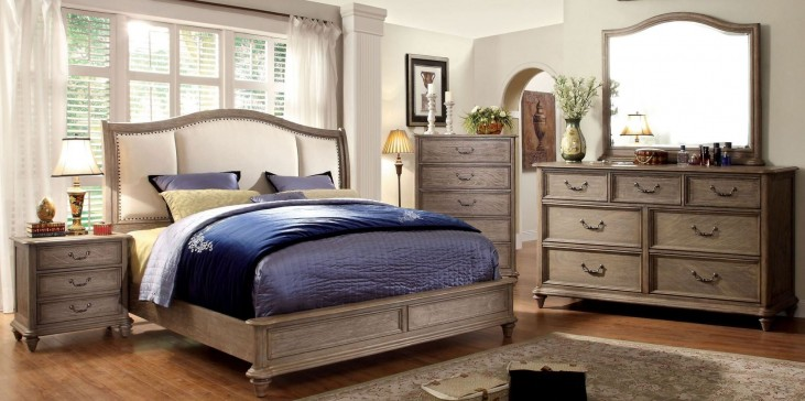 Belgrade II Rustic Natural Tone Upholstered Bedroom Set