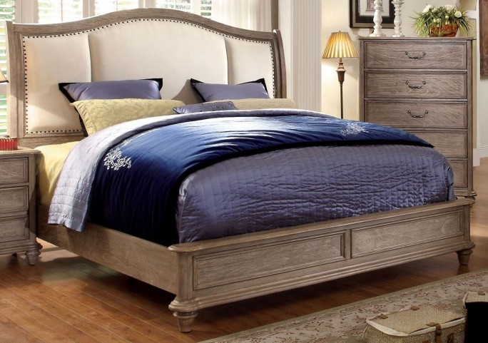 Belgrade II Rustic Natural Tone Upholstered King Bed