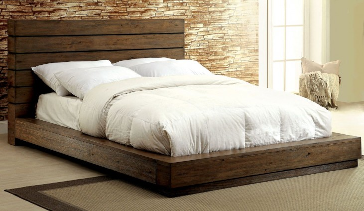 Coimbra Rustic Natural Queen Bed