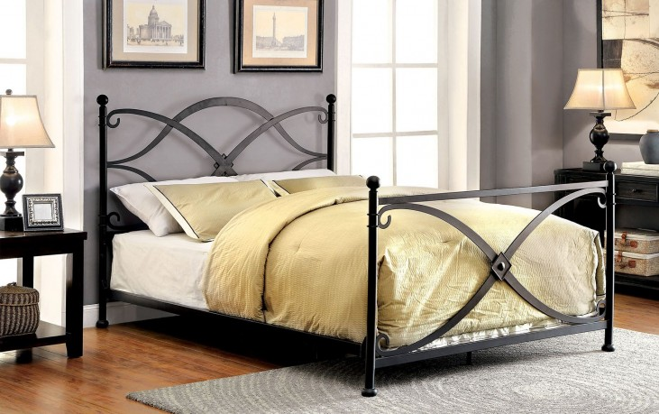 Zaria Queen Metal Panel Bed