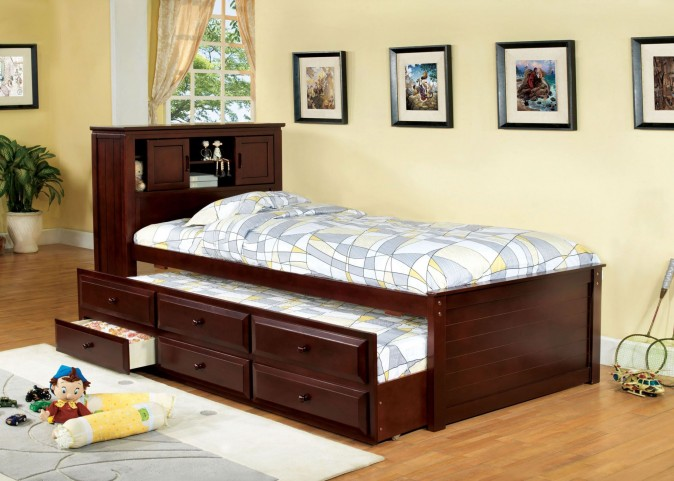 South Land Cherry Captain Twin Trundle Storage Bed