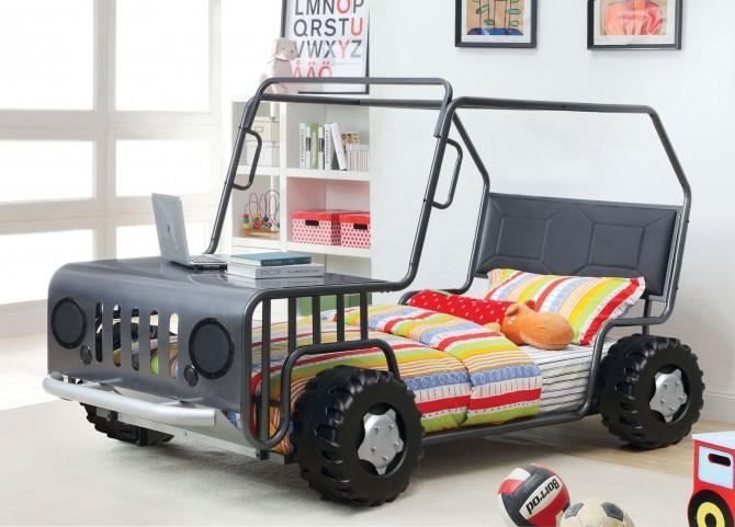 Trekker Gun Metal Twin Rover Bed