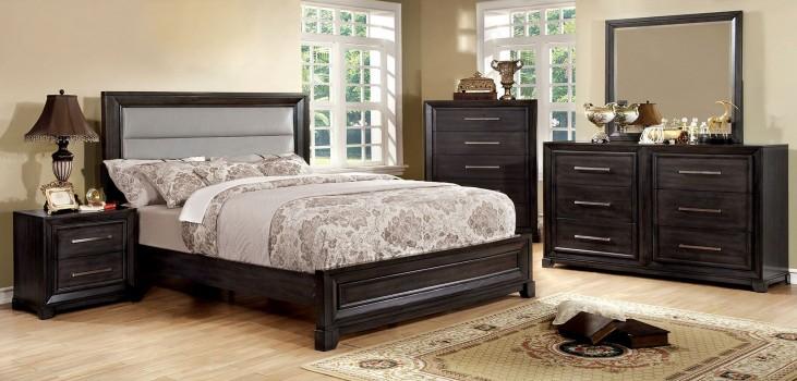 Bradley Dark Gray Upholstered Bedroom Set