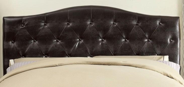 Calpas Brown Crocodile Leatherette Full/Queen Headboard