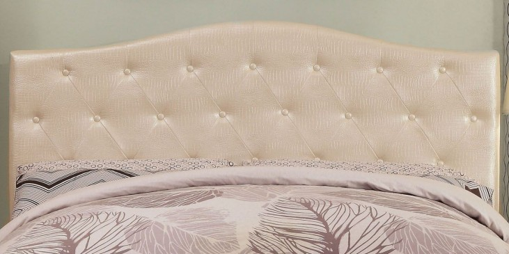 Calpas White Crocodile Leatherette Full/Queen Headboard