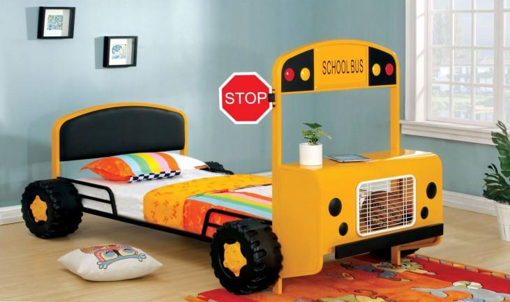 Field Tripper Yellow Metal Twin Bed