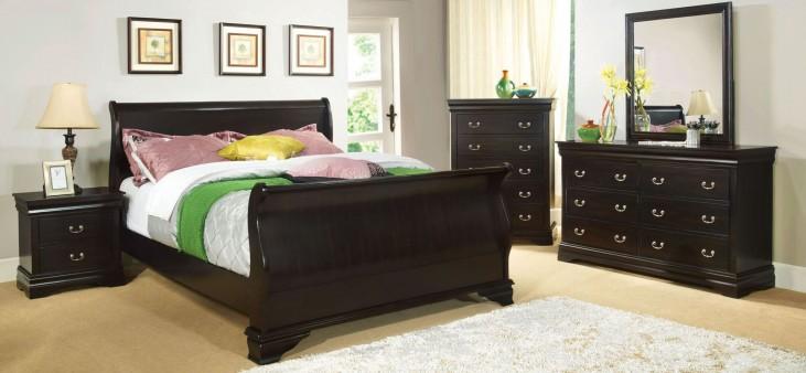 Laurelle Espresso Youth Sleigh Bedroom Set