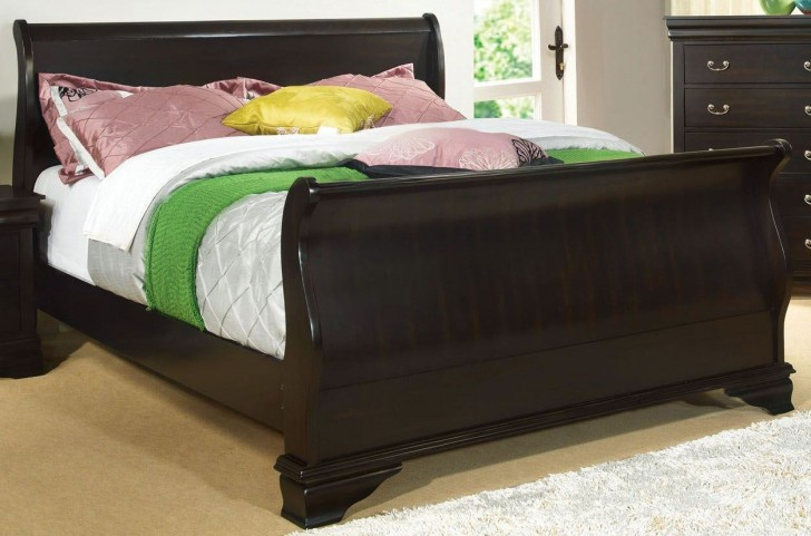 Laurelle Espresso King Sleigh Bed