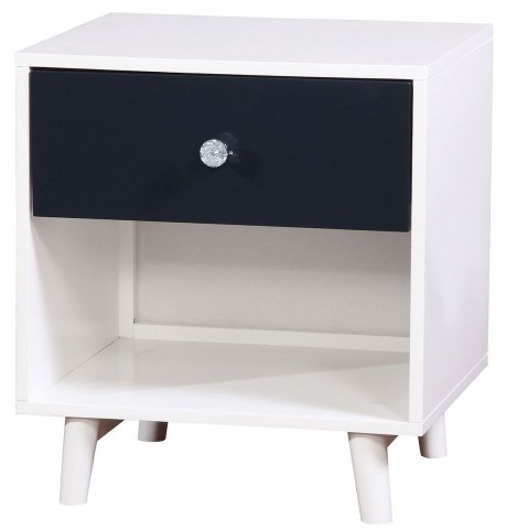 Alivia Blue & White Nightstand