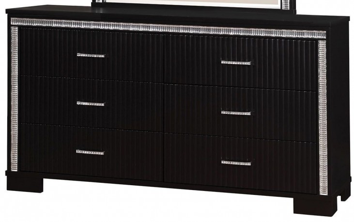 Alver Sleek Black Dresser