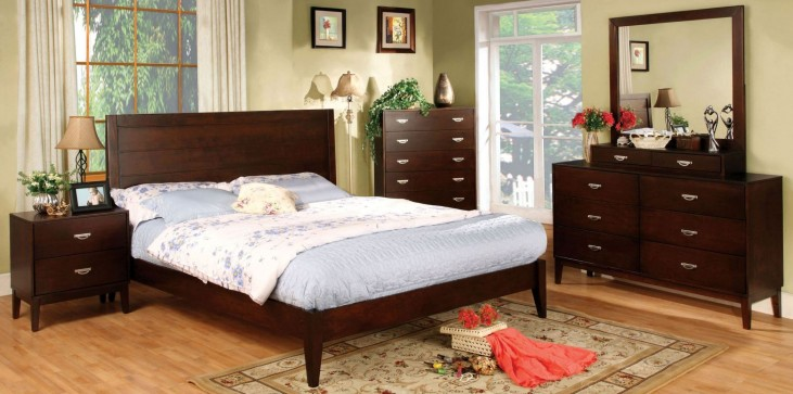 Crystal Lake Brown Cherry Platform Bedroom Set