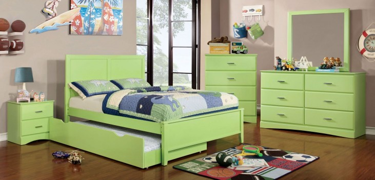 Prismo Green Youth Platform Bedroom Set