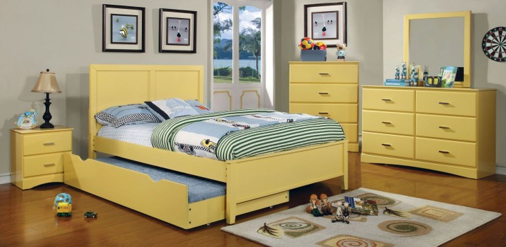 Prismo Yellow Youth Platform Bedroom Set