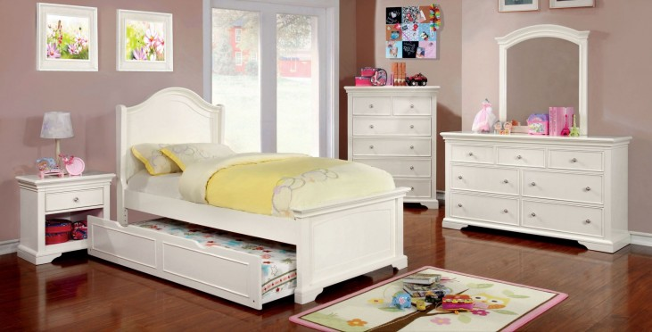 Mullan White Youth Platform Bedroom Set