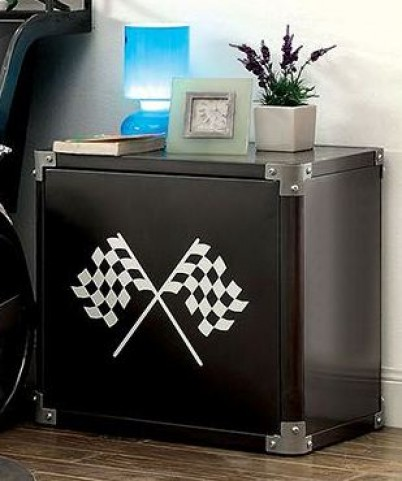 Gt Racer Metal Nightstand