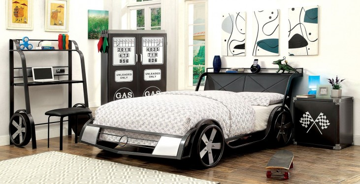 Gt Racer Youth Platform Bedroom Set