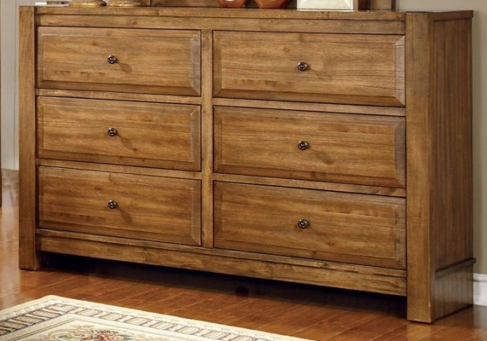 Conrad Rustic Oak Dresser