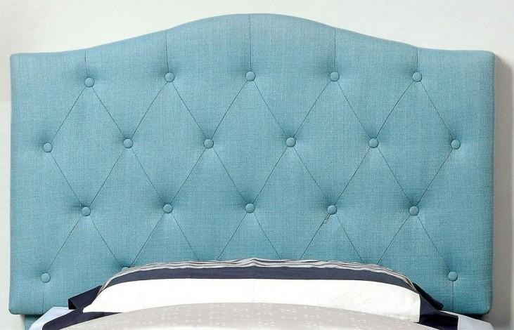 Alipaz Blue Flax Fabric Twin Size Headboard