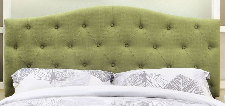 Alipaz Green Flax Fabric Full/Queen Size Headboard