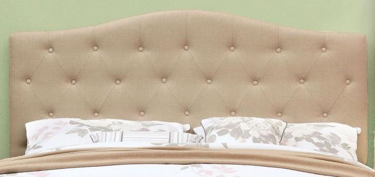 Alipaz Ivory Flax Fabric Full/Queen Size Headboard