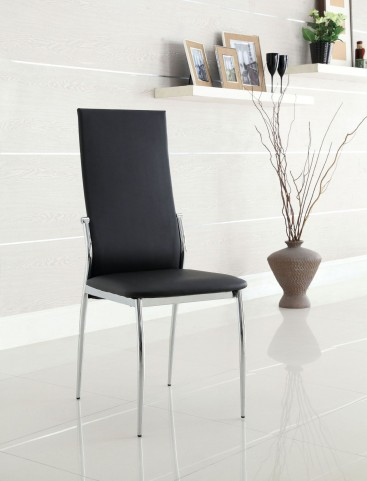 Kalawao Black Leatherette Side Chair Set of 2