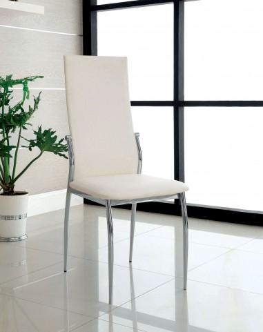 Kalawao White Leatherette Side Chair Set of 2