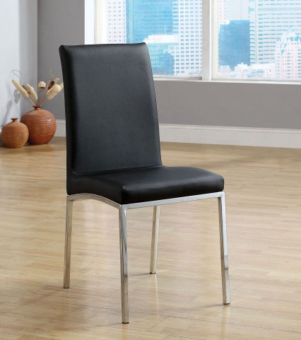 Kauai Black Leatherette Side Chair Set of 6