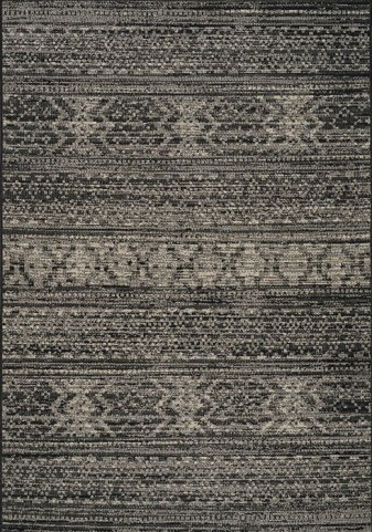 Coast Black and Cream Sweater Flatweave Medium Rug
