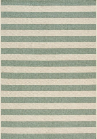 Coast Blue-Grey/Cream Stripes  Flatweave Medium Rug