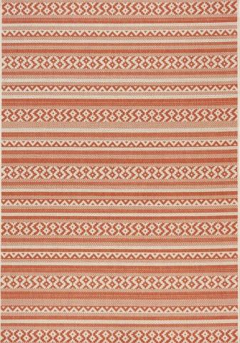 Coast Red/Cream Cozy Flatweave Small Rug
