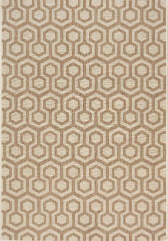 Coast Brown/Beige Honeycomb  Flatweave Small Rug