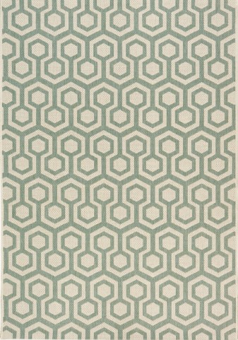 Coast Green/Beige Honeycomb Flatweave Small Rug