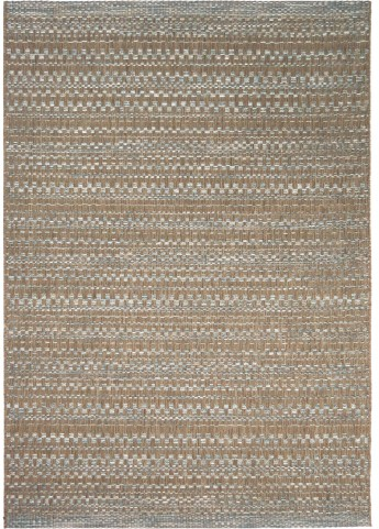 Orian Rugs Indoor/Outdoor Border Aegean dark blue/ brown Area Large Rug
