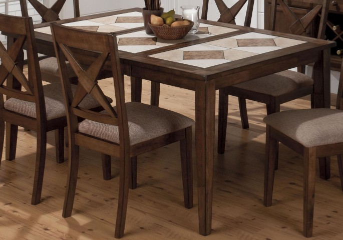 Tucson Ceramic Tile Extendable Dining Table