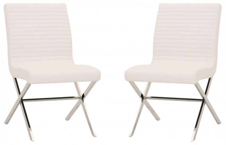 Comet White Comet Dining Chair Set of 2