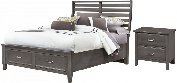 Commentary Steel Benchback Panel Storage Bedroom Set