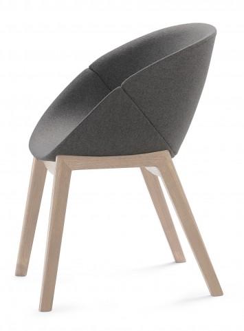 Coquille Ash White Armchair