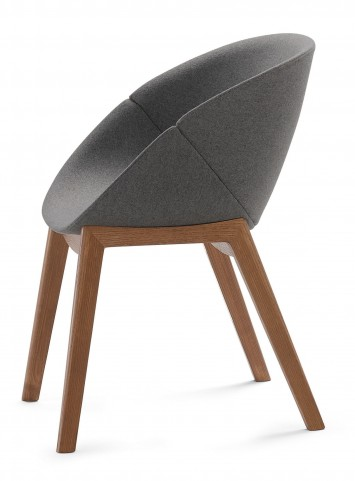 Coquille Walnut Armchair