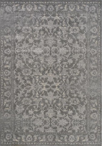 Coventry Grey Ornamental Large Rug