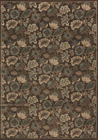 Cozumel Brown/Blue Floral  Medium Rug