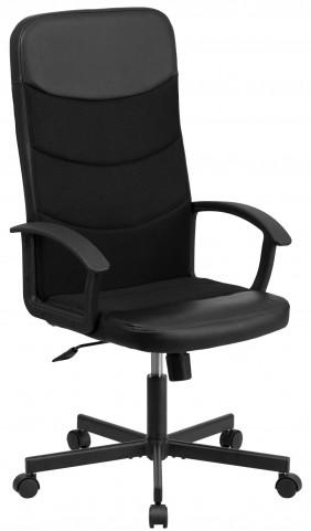 High Back Black Vinyl Executive Inserts Chair