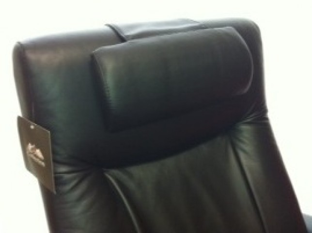 Oslo Black Top Grain Leather Headrest