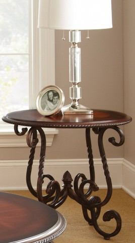 Crowley Dark Cherry End Table