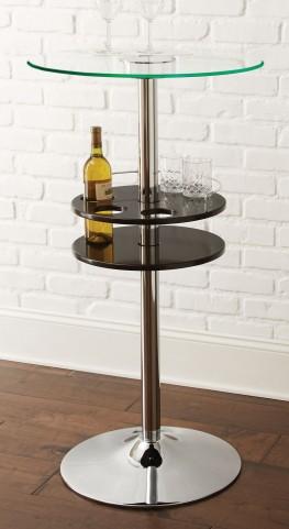Crystal Black Bar Table