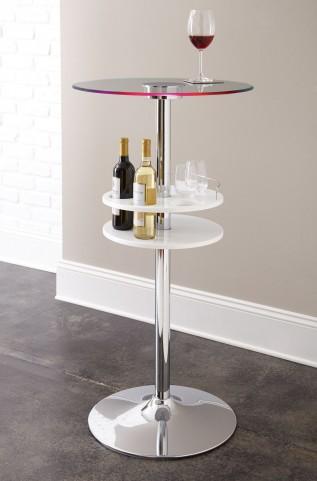 Crystal White Bar Table