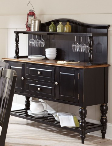 Carrolton Medium Oak Buffet with Hutch