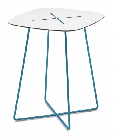 Cross Turquoise High Square Coffee Table